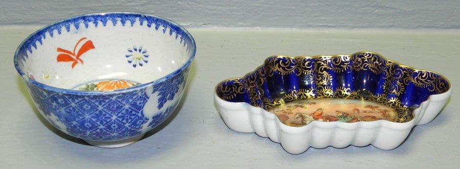 45: Small Oriental bowl and  Royal Vienna tray