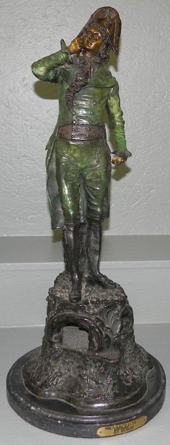97: Signed Morise cast metal figurine of Napoleon