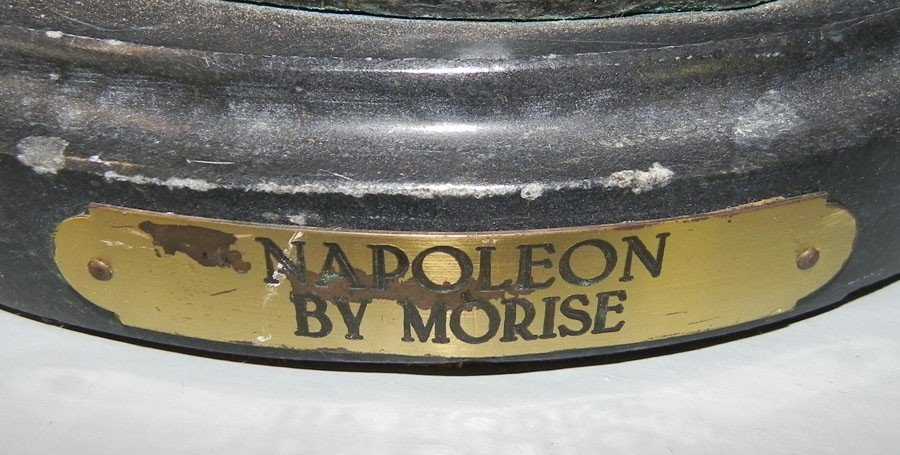 97: Signed Morise cast metal figurine of Napoleon - 2