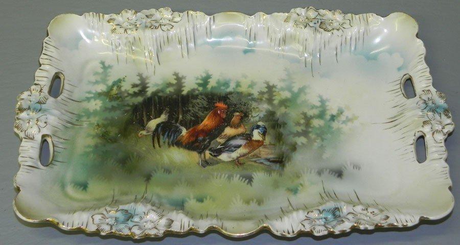 101: R.S. Prussia dresser tray with farm scene.