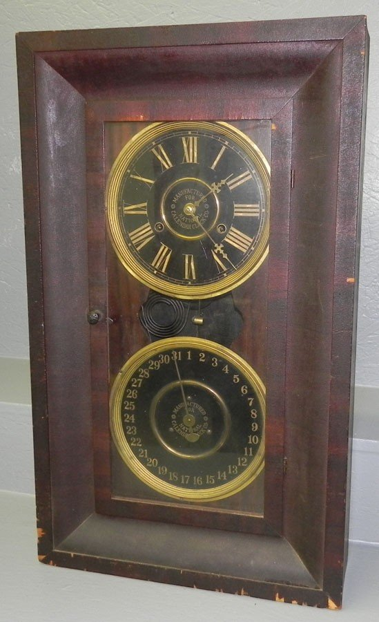 105: National Calendar Clock Company calendar clock.
