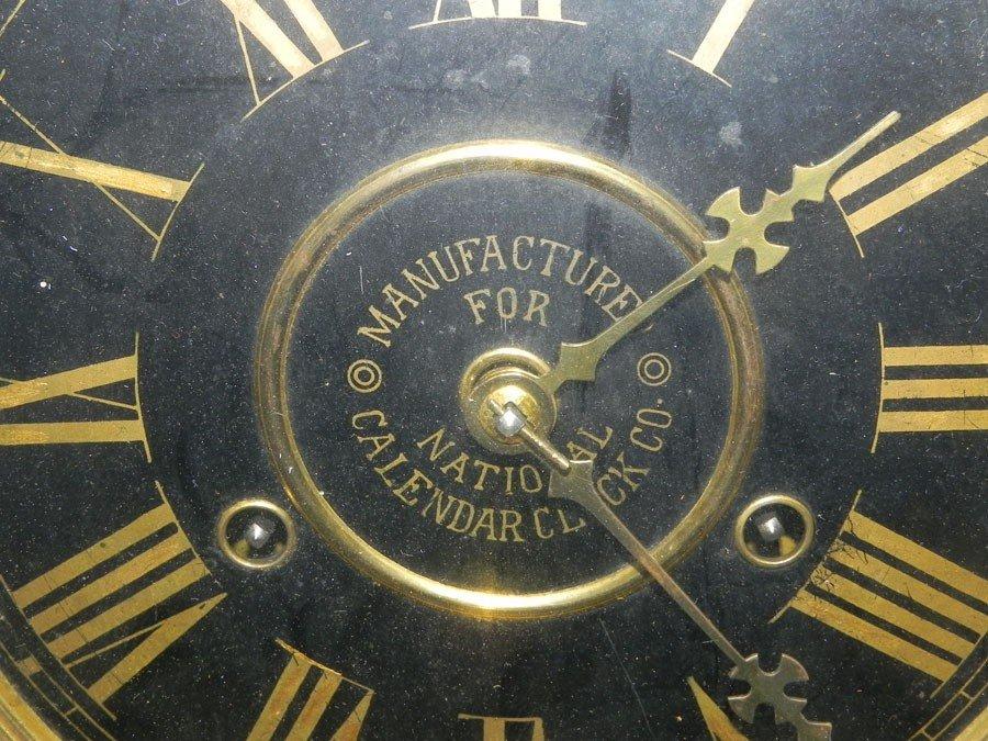 105: National Calendar Clock Company calendar clock. - 2