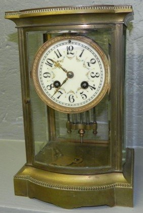Crystal Regulator Clock With French Movement.