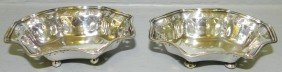 2 Sm Sterling Nut Dishes By Tiffany & Co. 2.50 T.O