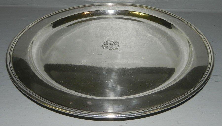 337B: Tiffany & Co. sterling tray (18.44 troy oz.)