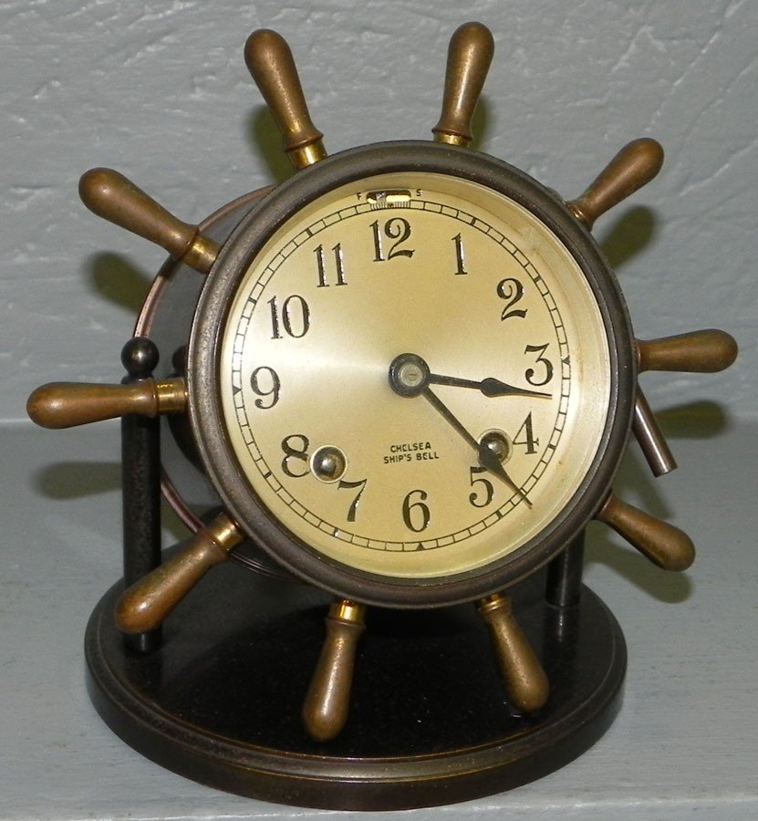3: Chelsea ships bell clock.