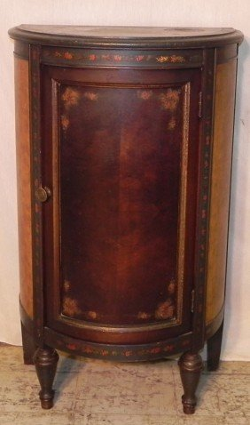 4: Paint decorated half round French style commode