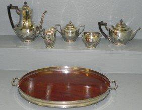 23: 6 pc. silver solder tea set by Tiffany & Co.