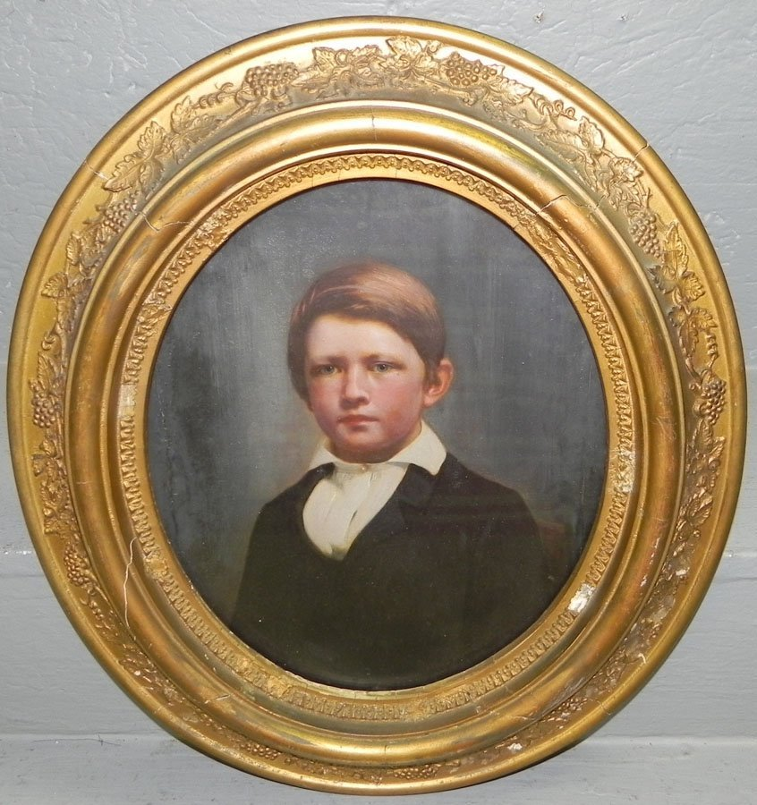 10: Oval portrait of young man.