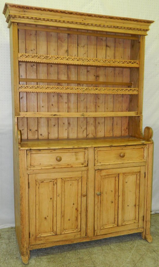 17: 18th c. Country French Welsh dresser.