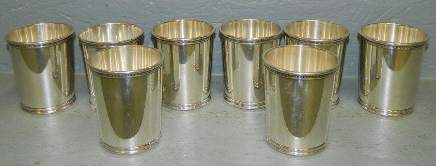 587: 8 Mark J. Scearce sterl. mint julep cups 38.13 t.o