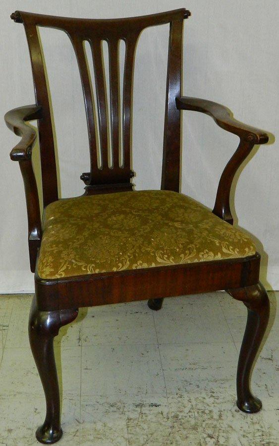 7: Transition QA mahogany arm chair.