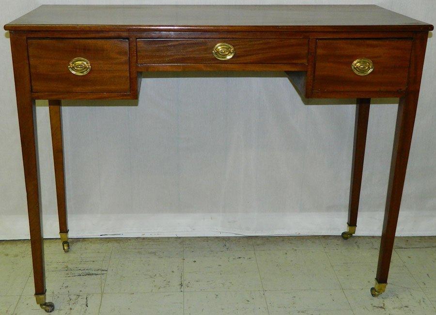 12: Mahogany Hepplewhite dressing table circa 1820