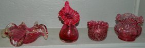 3: (4) pieces of art glass