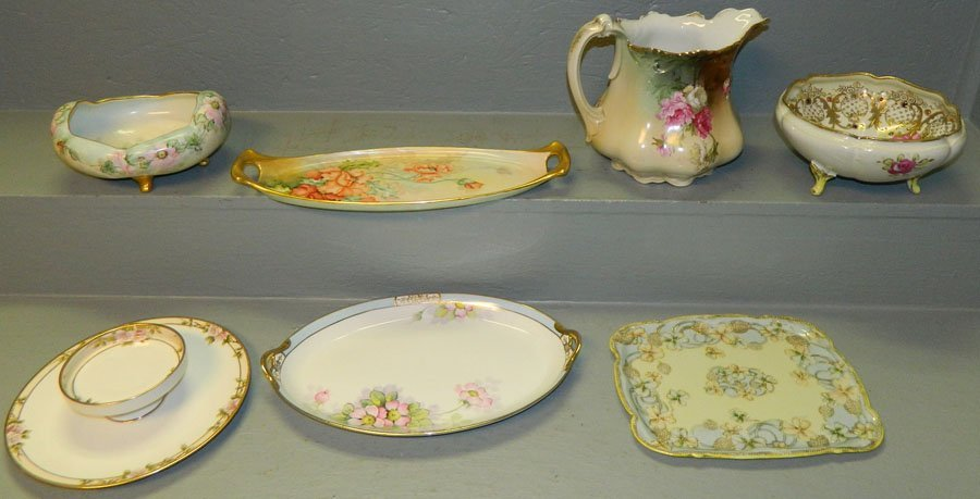 20: 7 pcs handpainted Nippon china