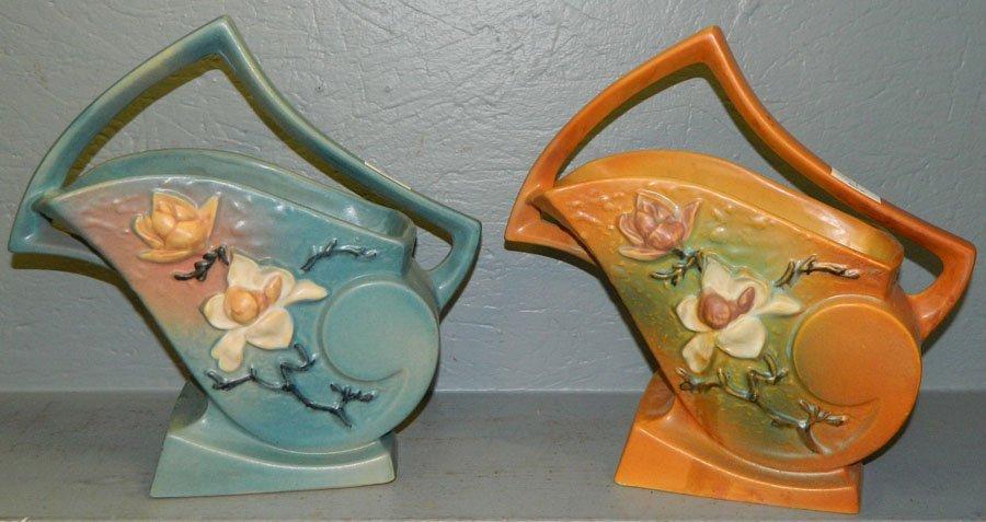 462: (2) Roseville Magnolia baskets.
