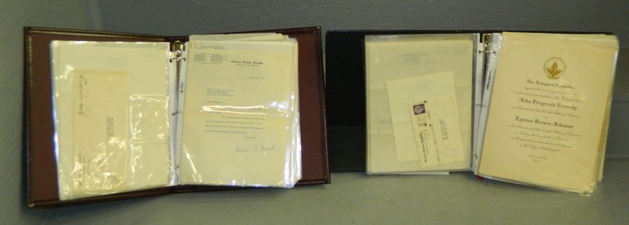 1056: (2) Albums of Autographed letters.
