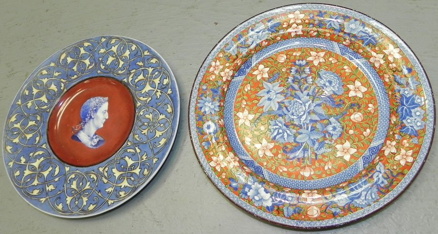2 Early 19th Century decorated German plates.