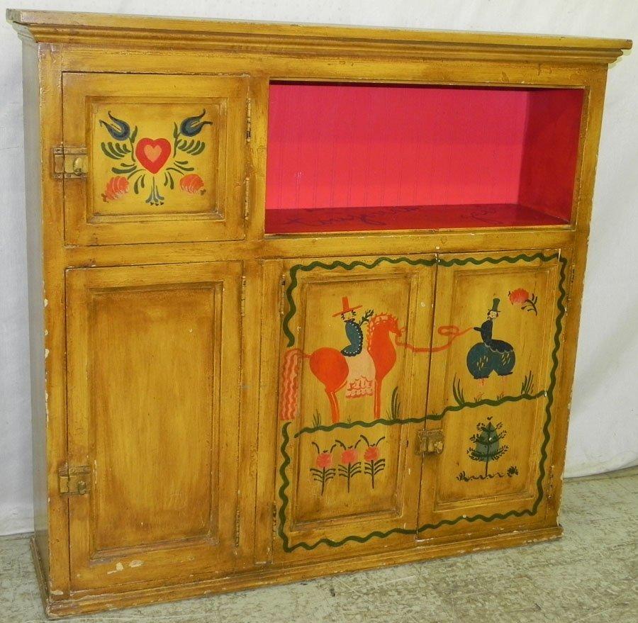 Italian paint decorated cupboard