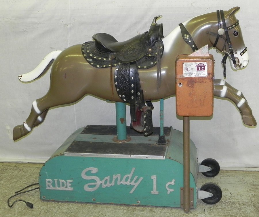 Sandy one-cent hobby horse.