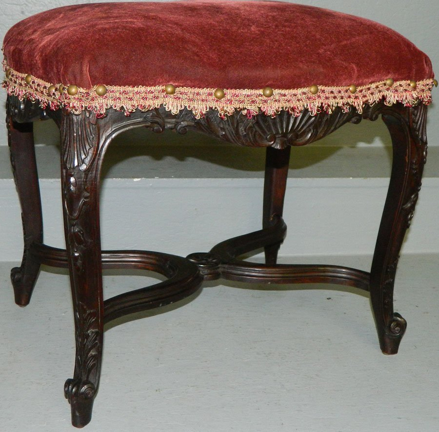 French carved rosewood stool.