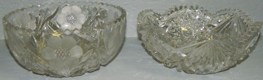 (2) Cut glass bowls.