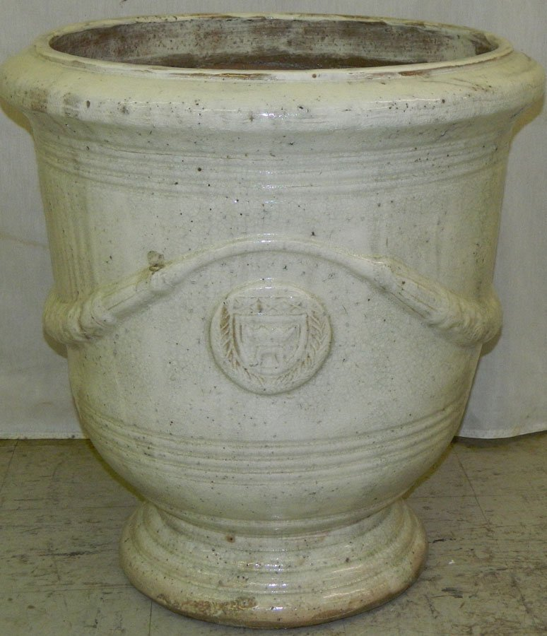 Large French terra cotta jardiniere.