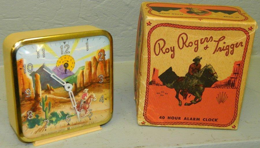 Roy Rogers trigger running clock in original box.