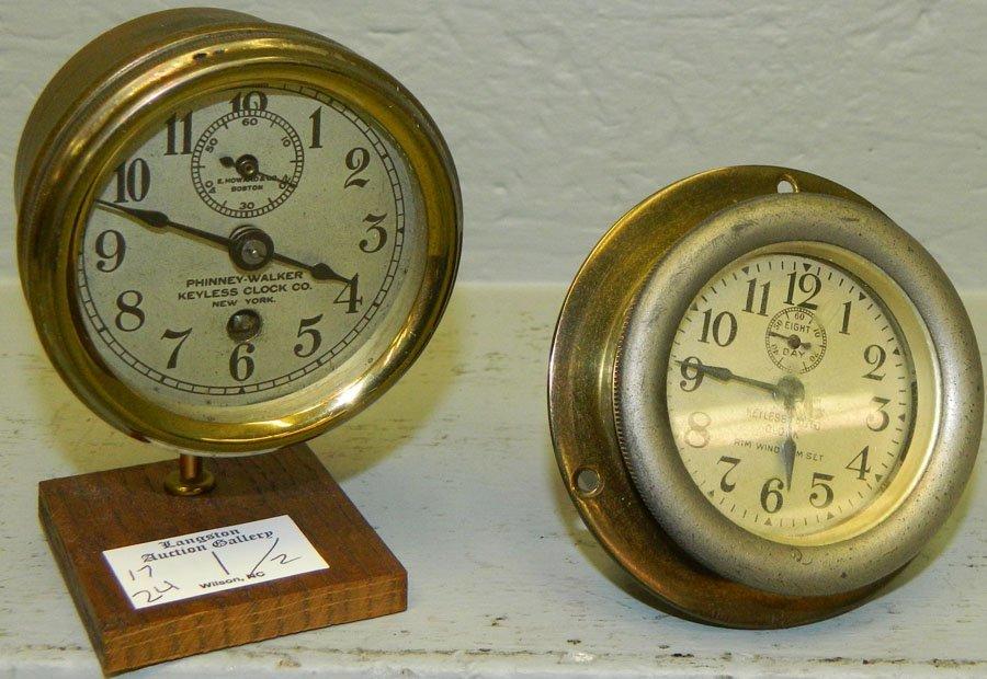 (1)  Phinney-Walker and (1) Keyless auto clock.