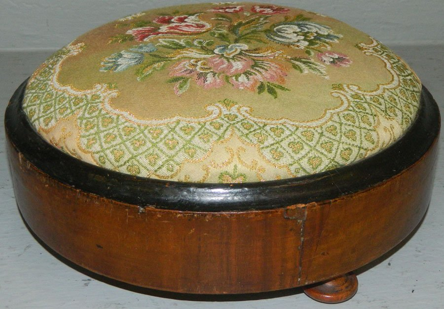 Silk or embroidered empire stool.