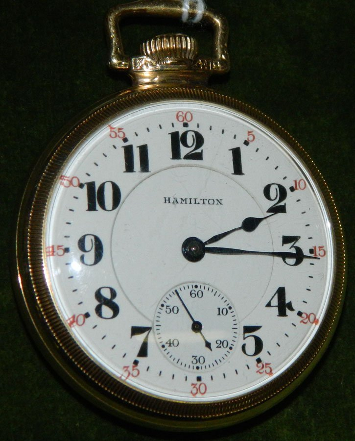 Pocket watch by Hamilton Watch Co.