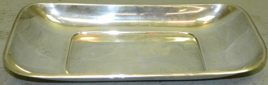 Sterling bread tray, 9.12 troy ounces.