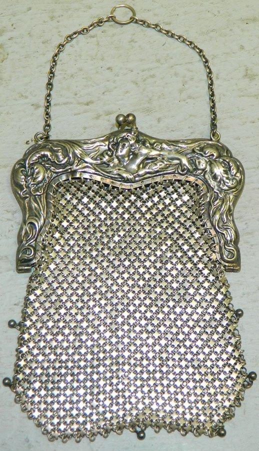 Victorian mesh purse.