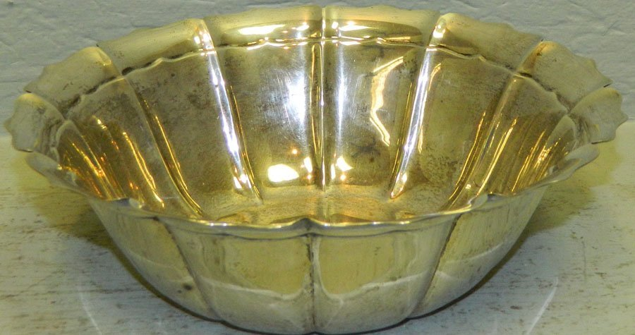 Sterling bowl, 14.6 troy ounces.