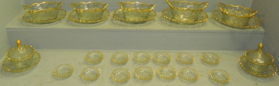(29) Pieces of 18th Century Irish cut crystal.