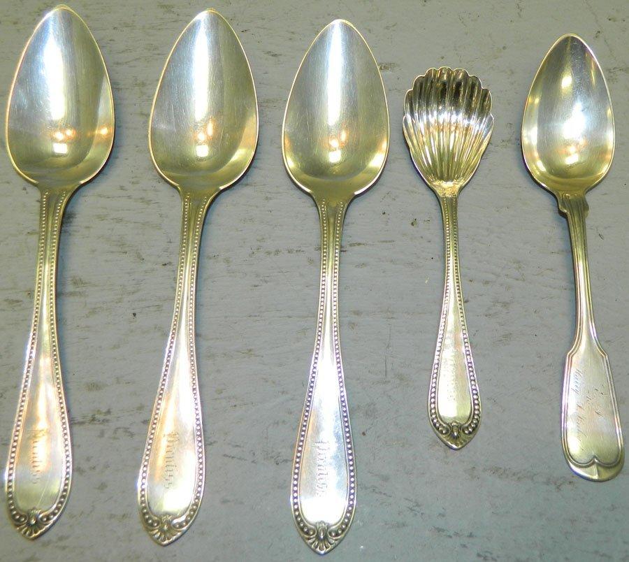 (5) Pieces of coin silver.