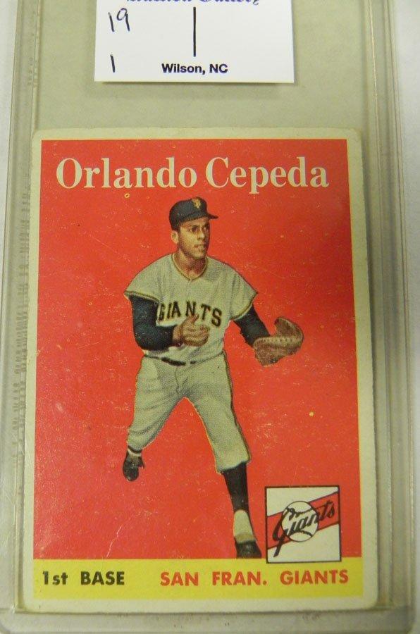 1958 Topps Orlando Cepeda #343