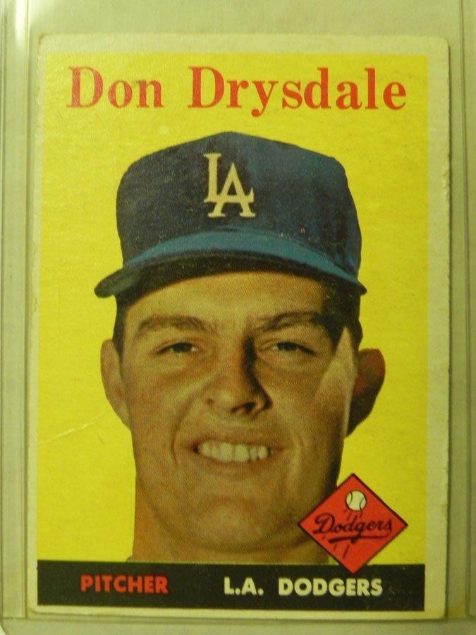 1958 Topps Don Drysdale #25