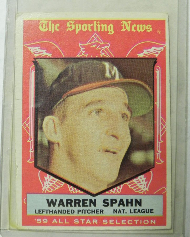 1959 Topps Warren Spahn AS #571