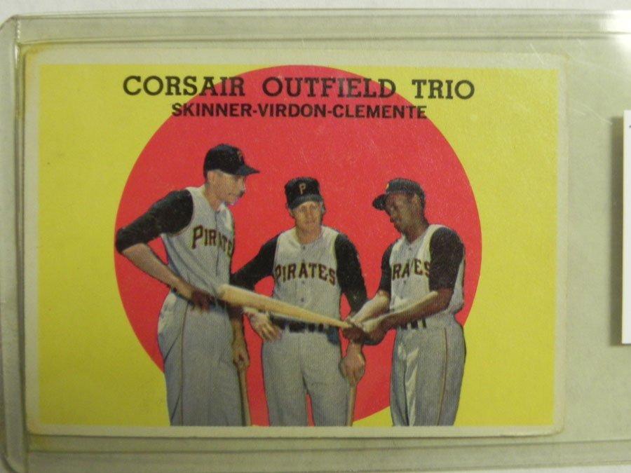 1959 Topps Corsair Outfield Trio #543