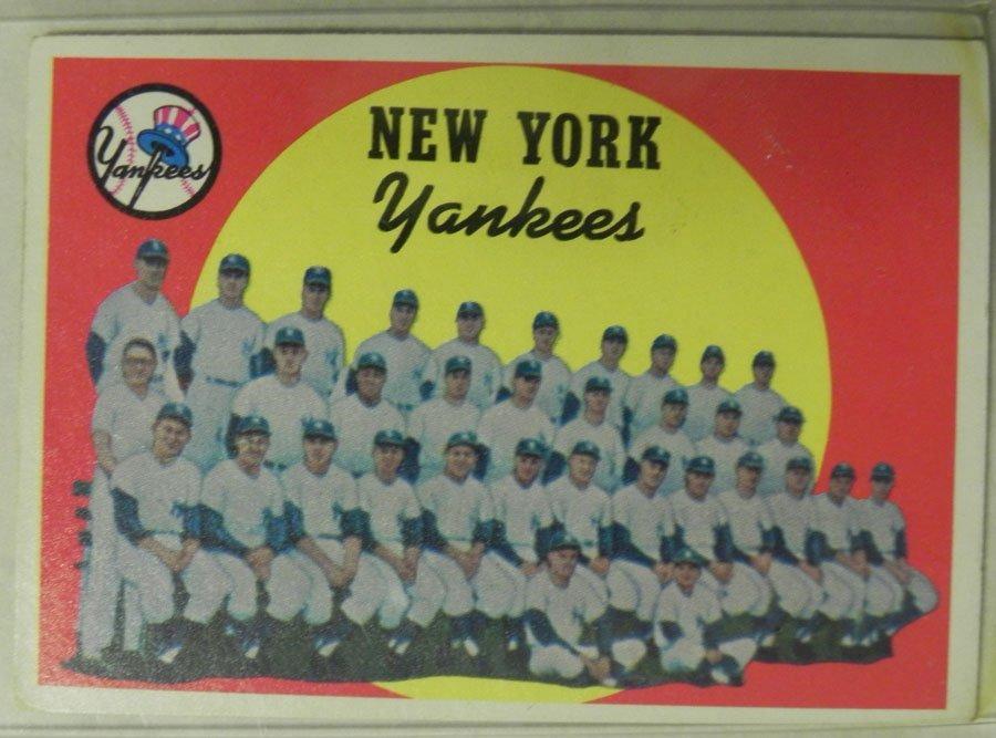 1959 Topps New York Yankees #510