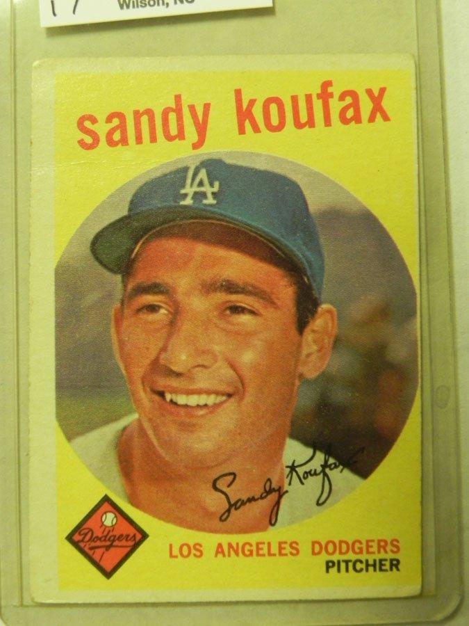 1959 Topps Sandy Koufax #163