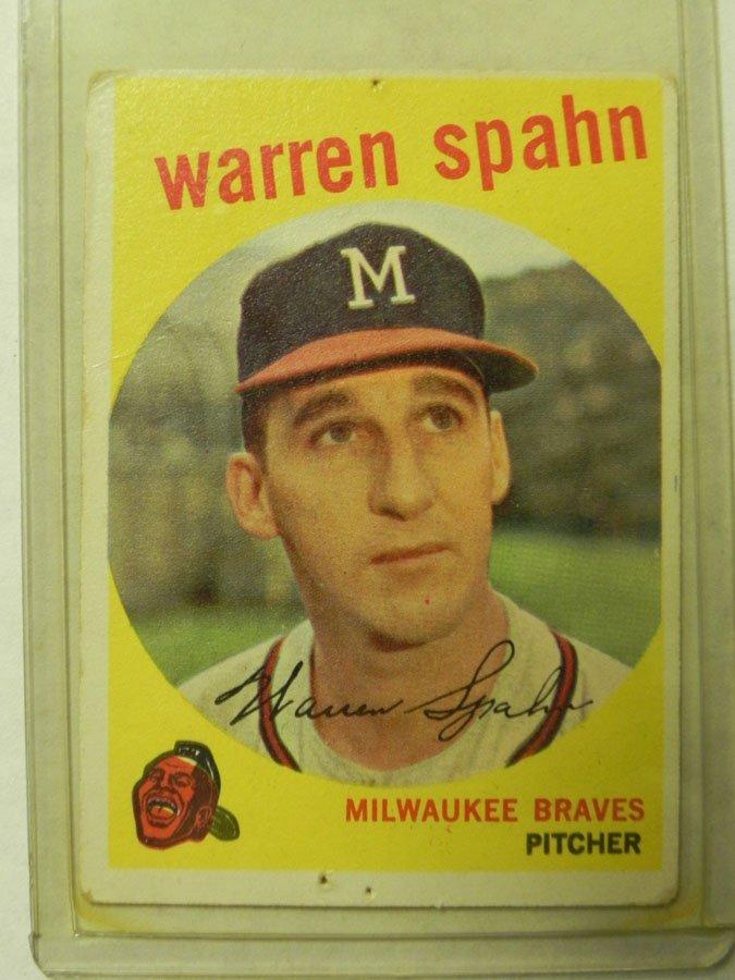 1959 Topps Warren Spahn #40