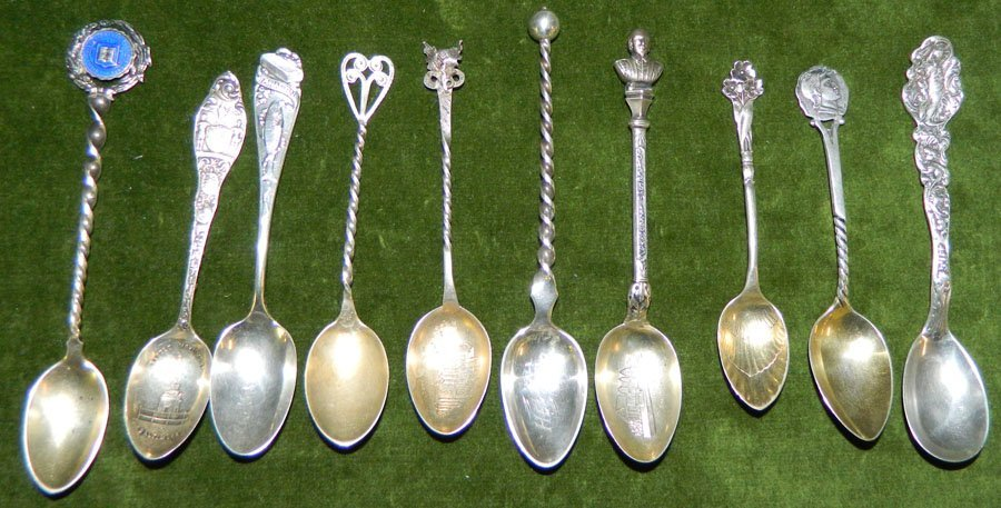 (10) Sterling spoons. 3.65 troy oz.