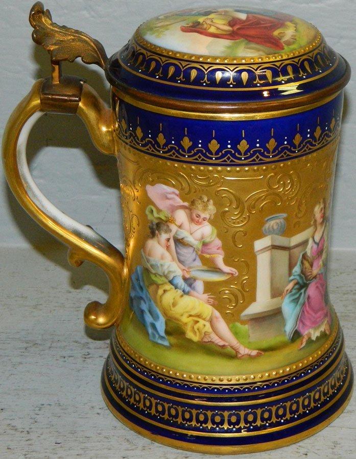 Royal Vienna hand painted portrait mug.