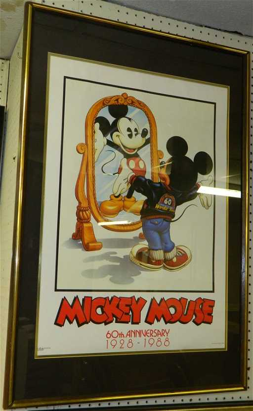 Framed Mickey Mouse 60th Anniversary Poster