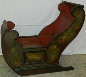 19th c. Dutch Tole painted children's sled