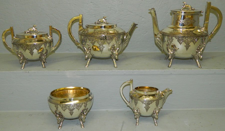 5 pc.Rogers & Smith silver plate tea set.
