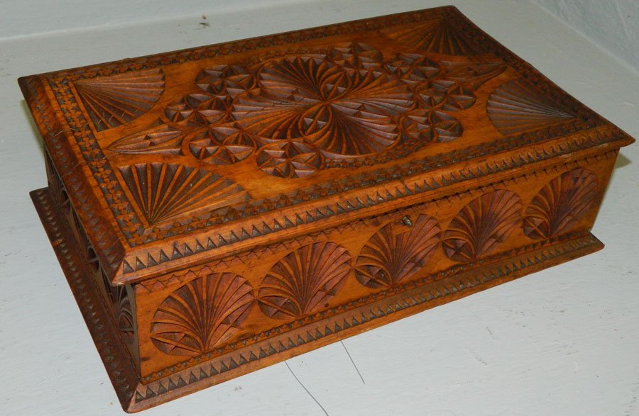 Maple Wooden Carved Box.