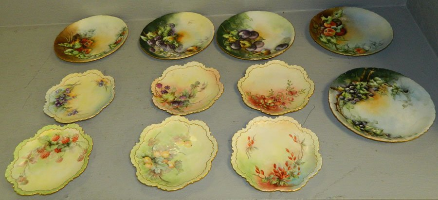 (11) Hand painted plates